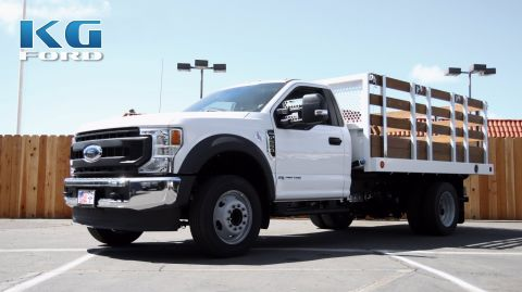 New 2020 Ford Super Duty F-550 DRW XL With 12 Stakebed